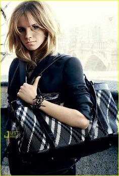 2009 Emma Watson's Burberry Ads -- FIRST LOOK! | emma watson burberry ads 02 - Photo