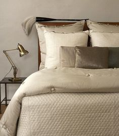 Ann Gish Luxury Bed Lines and Decorative Pillows in Silk, Egyptian Combed Cotton or Linen