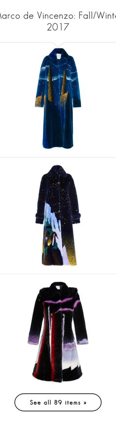 """""""Marco de Vincenzo: Fall/Winter 2017"""" by livnd ❤ liked on Polyvore featuring marcodevincenzo, fallwinter2017, livndfashion, livndmarcodevincenzo, outerwear, coats, jackets, blue, maxi coat and fake fur coats"""