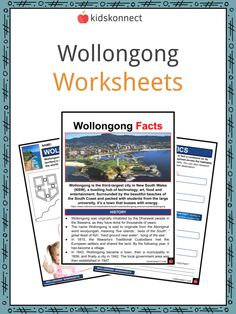 Wollongong Facts & Worksheets | KidsKonnect Sea Cliff Bridge, Aboriginal Words, Geography Worksheets, Mountain Hiking, Famous Landmarks, City Beach, New South, Sign I, Continents