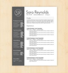 graphic design resume template - Google Search