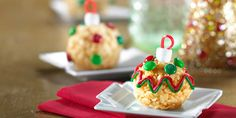 Spruce up Santa's snack with your little helpers by decorating each tasty ornament shape with frosting and Christmas-colored M&M'S® brand chocolate candies.