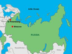 st petersburg russia map | Russia Hotels. Russia Accommodation in Moscow and St Petersburg at ...