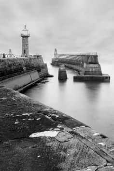 Whitby Lighthouse. North Yorkshire.