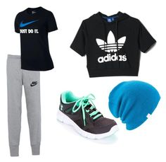 """""""Gym outfit """" by viola-clerici on Polyvore featuring moda, NIKE, Under Armour, adidas e Coal"""