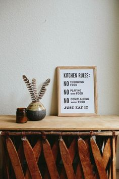 Letterpress: Kitchen Rules                         – The Bee & The Fox