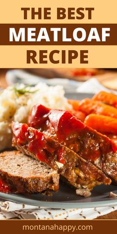 This is a CRAZY good recipe. Hands down it will be the BEST meatloaf recipe you'll ever have. I know that for sure. The topping is a brown sugar ketchup glaze that's out of this world. Not only is this meatloaf recipe delicious, but it's easy to make as well. This is a recipe that you will hand down through the generations. If you're looking for the perfect dinner recipe with beef - this is it! #meatloaf #meatloafrecipe Most Delicious Meatloaf Recipe, Meatloaf Recipes, Crockpot Recipes, Homemade Meatloaf, Bacon Recipes, Cream Recipes, Breakfast Recipes, Dinner Recipes, Recipes
