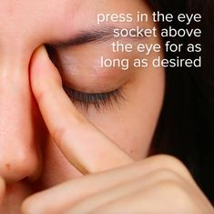 Next, use your index finger to apply pressure to the place where the eyebrow bone and eye socket meet. These 8 Pressure Points Will Help You Relieve Congestion Sinus Pressure Relief, Sinus Congestion Relief, Pressure Points For Headaches, Chest Congestion Remedies, Relieve Sinus Pressure, Massage Pressure Points, Migraine Relief, Pain Relief, Headache Remedies