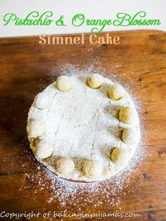 Pistachio and Orange Blossom Simnel Cake #recipe #tastytuesdays #apeekintomyparadise