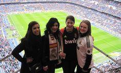Andrea Acosta - 2013 Program Participant       Santiago Bernabeu in Spain for Real Madrid match