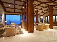 Elegant living room.  I love the vaulted ceiling.