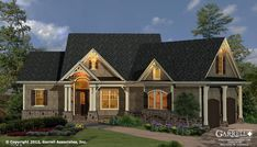 Westbrooks Cottage 11116 G House Plan | Covered Porch Plans