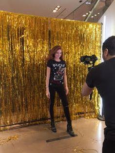 gold fringe backdrop, Photo Booth backdrop, photography/video backdrop