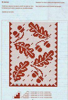 crochet home: table runner fillet crochet Crochet Table Runner Pattern, Crochet Doily Diagram, Filet Crochet Charts, Crochet Tablecloth, Knitting Charts, Knitting Patterns, Crochet Patterns, Crochet Doilies, Crochet Leaves