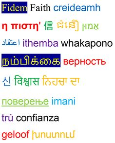 Faith in 21 different languages
