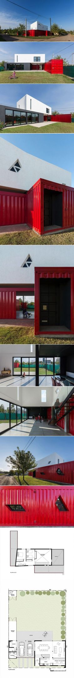 Container House - A Container Home With Personality - Who Else Wants Simple Step-By-Step Plans To Design And Build A Container Home From Scratch? Container Home Designs, Shipping Container Design, Cargo Container Homes, Building A Container Home, Shipping Container House Plans, Container Buildings, Storage Container Homes, Container Architecture, Shipping Containers