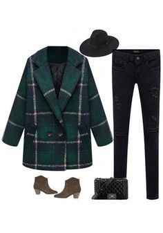 Classic Green Tartan Coat- Perfect for Any Outfit