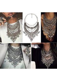 Collar ZA collares Vintage Crystal Maxi gargantilla Collier Femme Boho grandes diferentes modelos
