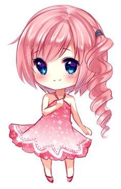 Fille habillé en rose bonbon kawaii ♥
