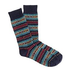 Fair Isle socks in navy $16.50