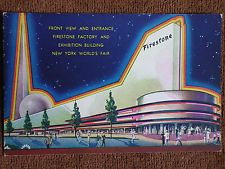 1939 New York World's Fair/Firestone Factory Exhibition Building/Art Deco Litho