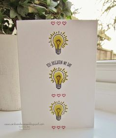 Stampin' Up UK Demonstrator Sarah-Jane Rae Cards and a Cuppa blog: You Brighten My Day- Stampin' up! Sale-a-Bration 2015- Notecard
