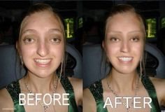 Before and after Photoshop.