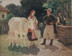 Meeting at the Well - Николай Пимоненко