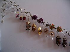 Lovely way to display and store your earrings!