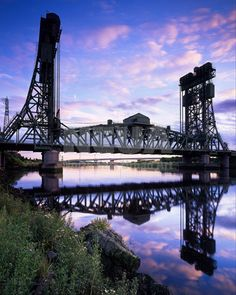 Newport Bridge, over the Tees, from Middlesbrough to Stockton, Billingham, England