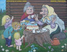 """"""" Mormors Födelsedag """" , """" Oma's verjaardag """" , handpainted by Anneke Legeer , the Netherlands, inspired by Rolf Lidberg.  Weert  , maart 2016."""