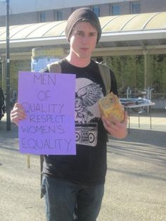 Men of quality respect women's equality. #Feminism