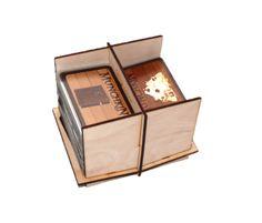Two slots wooden Card Holder - 2L DIY