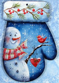 Snowman Ornament is designed and painted by Chris Haughey. This digital PDF E-Pattern, designed Chris Haughey, includes: color photo, supply list, tracing pat