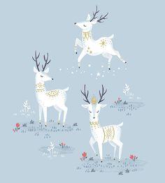 Oh deer, it's more Christmas in July. 😜 - . . . #makeartthatsells #illustratorlife #digitalillustration #dailydraw #childrensillustration…