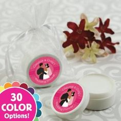 Your guests will love our Custom Wedding Couple - Personalized Lip Balm Bridal Shower Favors and it will be the hit of the party! Price: $1.89 - Custom Wedding Couple - Personalized Lip Balm Bridal Shower Favors. We are a one stop party shop for baby showers, birthday parties, bridal showers, baptisms and more!