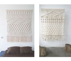 white forest home: 3 Easy DIY Macrame Wall Hangings Weaving Projects, Macrame Projects, Weaving Art, Diy Projects, Cute Crafts, Diy Crafts, Macrame Tutorial, Crafty Craft, Crafting