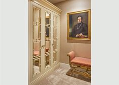 Discover The Heritage Wardrobe Company's Amazing Walk Through Wardrobe Fitted In South Kensington, London South Kensington London, Wardrobe Design, Walk In Closet, Wardrobes, Entryway, Doors, Dining, Amazing, Furniture