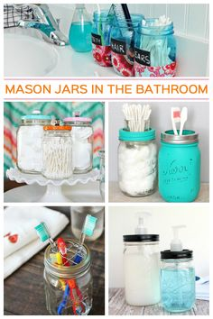10 Mason Jar Ideas for The Bathroom - Get supplies at Flower Factory - www.flowerfactory.com
