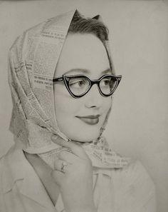 lunettes noires,1950