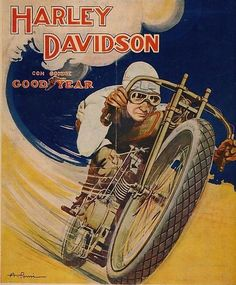 vintage advertising harley davidson