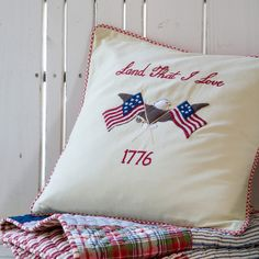 86f8f1bac990 Land That I Love Pillow by Taylor Linens. Taylor Linens Decorative Pillows  Ships Free ...