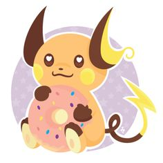 zombiemiki:  Day 12 of Draw Every Day in July  Raichu - one of...