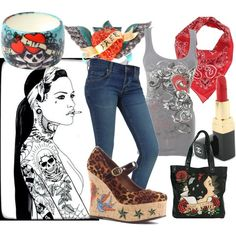 Rockabilly chick., created by caitlin