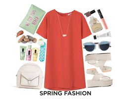 """""""Sweet Spring"""" by nediam ❤ liked on Polyvore featuring MANGO, Zara, Kendra Scott, Christian Dior, Clinique, Marc by Marc Jacobs, T-shirt & Jeans, GAS Jeans, NARS Cosmetics and Bobbi Brown Cosmetics"""