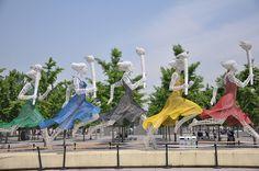 Running Women Sculpture - Beijing, China;  photo by NomadicEntrepreneur, via Flickr.