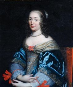 Portrait of a Lady in Blue and Gold by anonymous (possible copy of an original by the Beaubrun family), ca the Bowes Museum Fashion History, Fashion Art, Vintage Fashion, 17th Century Fashion, Anthony Van Dyck, Charlotte, Historical Art, Art Uk, European Fashion