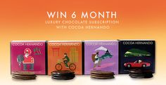 The Idle Man - Win Cocoa Hernando Chocolate Boxes for 6 Months Luxury Chocolate, Decadent Chocolate, Chocolate Boxes, Free Sweepstakes, Win Competitions, Luxury Food, Subscription Boxes, 6 Months, Cocoa