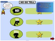 This excellent IWB resource provides support for the teaching of S2 Child Protection Theme 3: Protective Strategies. Students review the NO GO TELL strategy, safety rules, and networks. They learn about saying no, assertiveness, and persistence. https://interactivelessons.com.au/