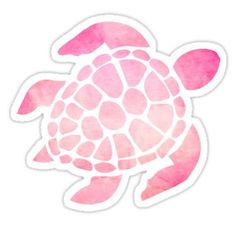 Sea Turtle Watercolor Pink Sticker